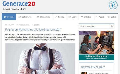 generace20.cz – Poznat gentlemana na ulici lze dnes jen stěží